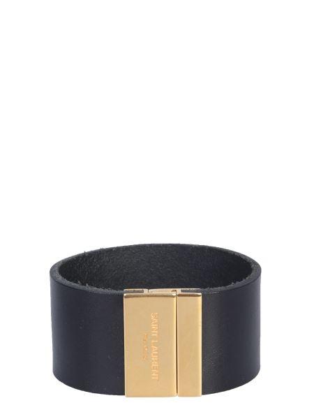 Saint Laurent - Magnetic Leather Plate Bracelet