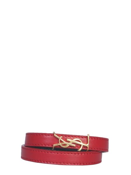 Saint Laurent - Double Round Opyum Bracelet With Leather Logo