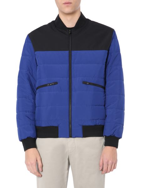 Z Zegna - Color Block Quilted Reversible Bomber