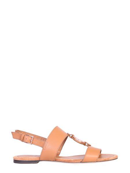 Tory Burch - Sandalo In Pelle Con Logo