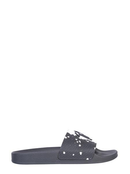 """Giuseppe Zanotti - """"brett"""" Slide Sandals With Logo"""