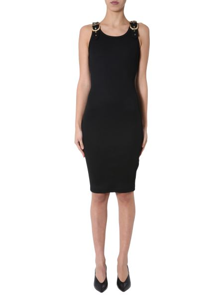 Versace Jeans Couture - Ribbed Midi Dress With Buckle