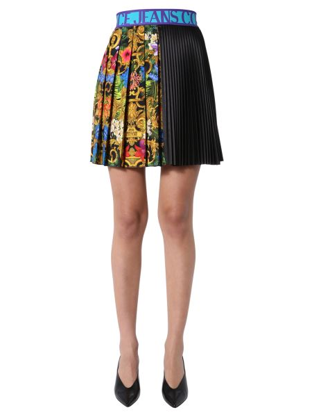 Versace Jeans Couture - Baroque Jungle Printed Pleated Skirt
