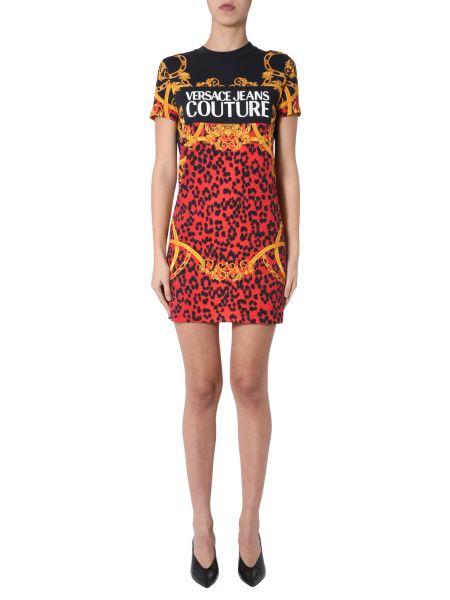 Versace Jeans Couture - Leochain Print Cotton Jersey Dress