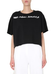 MM6 MAISON MARGIELA - FELPA CROPPED