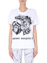 MM6 MAISON MARGIELA - T-SHIRT GIROCOLLO
