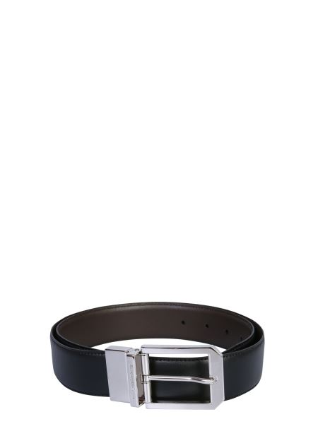 Z Zegna - Leather Belt With Reversible Buckle