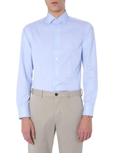 Z Zegna - Slim Fit Cotton Shirt With Striped Pattern