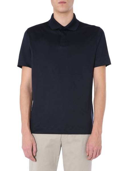 Z Zegna - Cotton Polo With Knitted Details