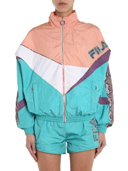 "Fila - ""aiko"" Python Print Jacket With Zip"