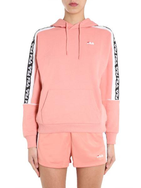 "Fila - ""tavora"" Hooded Sweatshirt With Logo Strip"