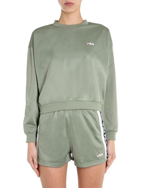 "Fila - ""tallis"" Round Neck Sweatshirt With Logo Strip"