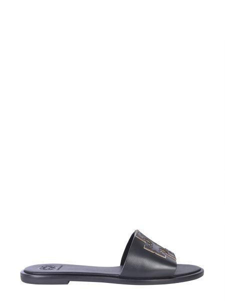 Tory Burch - Slide Ines In Pelle Con Logo