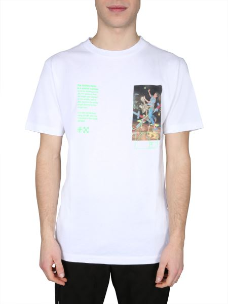 """Off-white - T-shirt """"pascal Painting"""" Girocollo In Cotone"""