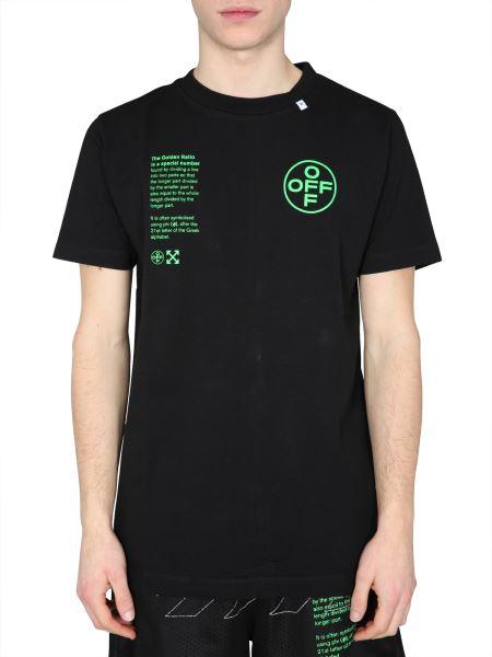 "Off-white - ""arch Shapes"" Cotton Crew Neck T-shirt"