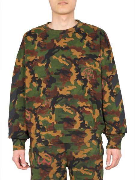 "Off-white - Felpa ""acrylic Camouflage"" Girocollo In Cotone"