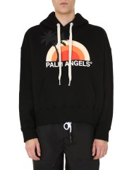 PALM ANGELS - FELPA CON CAPPUCCIO