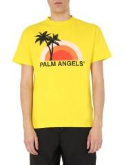 PALM ANGELS - T-SHIRT GIROCOLLO