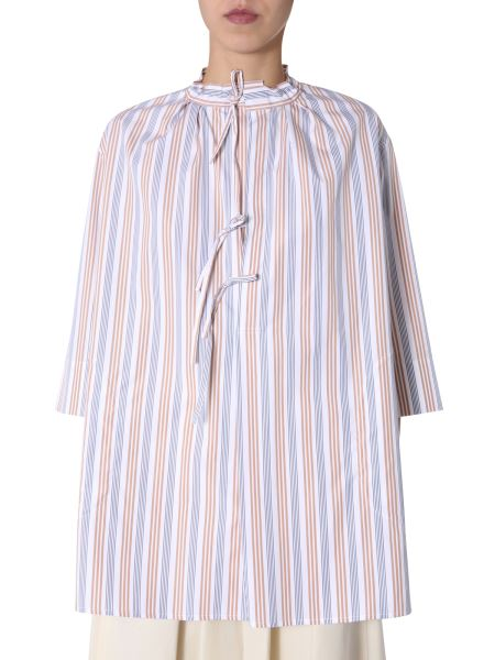 Aspesi - Cotton Shirt With Stripes And Laces Pattern