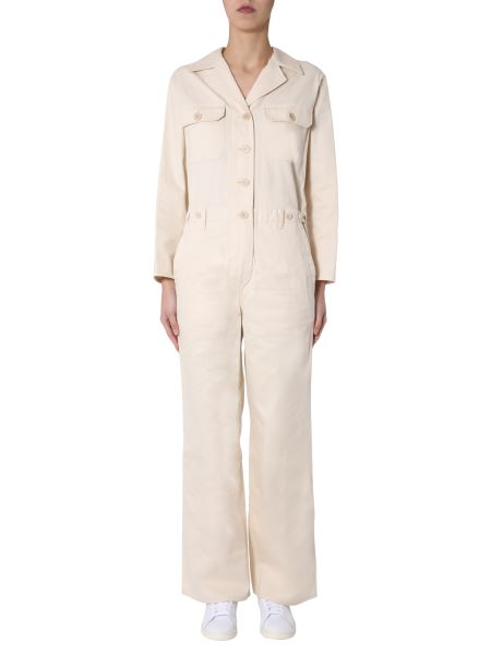 Aspesi - Cotton Jumpsuit With Pockets