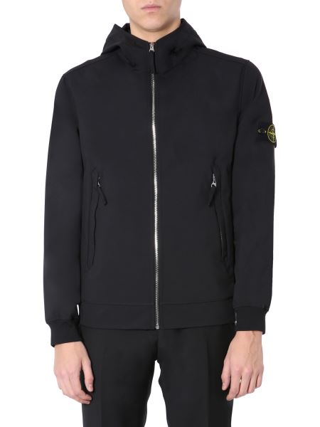 "Stone Island - ""light Soft Shell-r"" Hooded Jacket"
