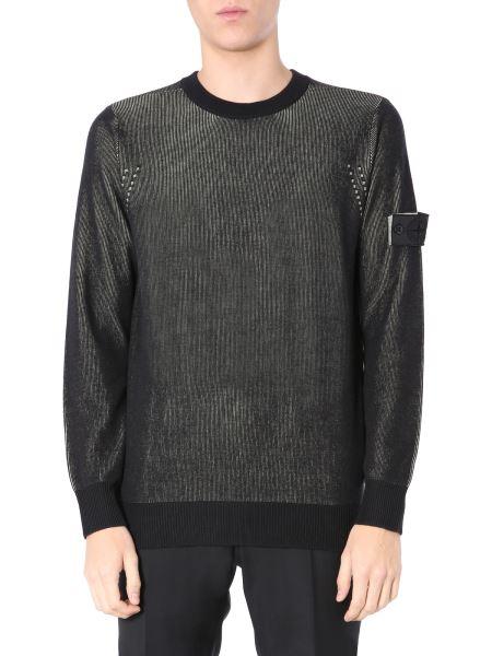 Stone Island Shadow Project - Crew Neck Bicolor Cotton Sweater