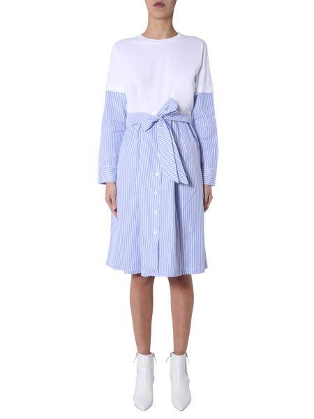 """Être Cécile - """"stripe Lucy"""" Crew Neck Cotton Dress"""