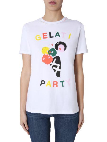 "Être Cécile - T-shirt ""gelati Party"" In Cotone Con Stampa"