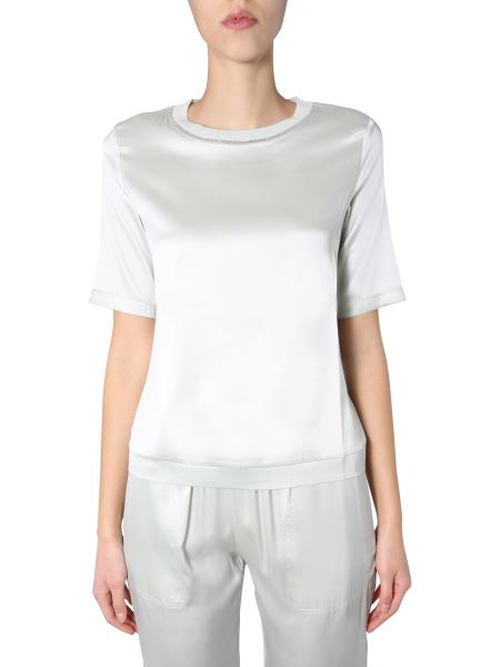 Fabiana Filippi - Silk Crew Neck Sweater With Jewel Detail