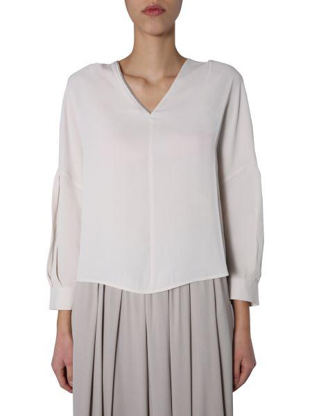Fabiana Filippi - Marocaine Silk Crepe V-neck Shirt