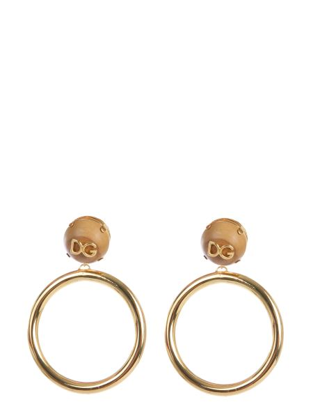 Dolce & Gabbana - Large Earrings With Logo And Circle