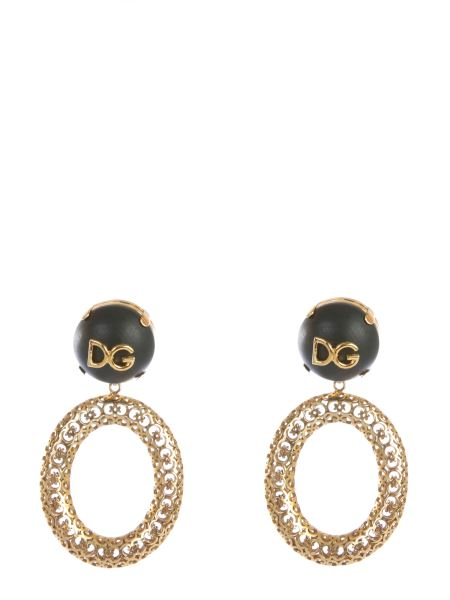 Dolce & Gabbana - Pendant Earring With Logo And Decorative Elements