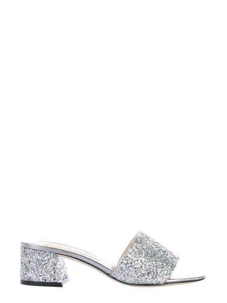 Jimmy Choo - Mule Mine Glitter Sandals