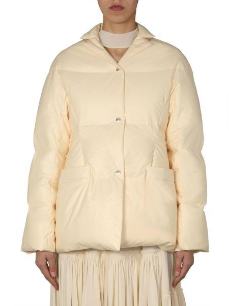 Jil Sander - Oversize Fit Cotton Poplin Down Jacket