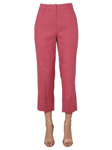 Brunello Cucinelli - Cigarette Linen Drill Straight Pants In Comfort Cotton