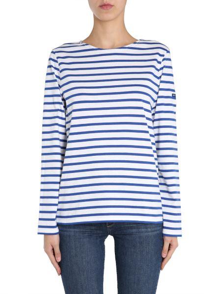 "Saint James - Cotton ""minquiers Moderne"" T-shirt With Striped Pattern"