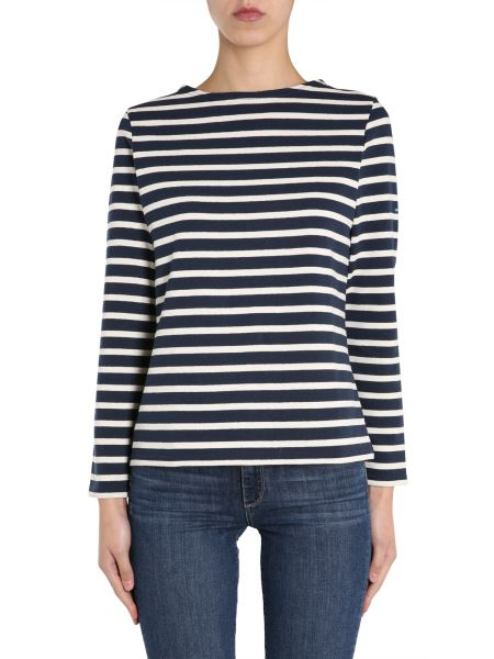 """Saint James - """"meridame Ii"""" Cotton Knit T-shirt With Striped Pattern"""