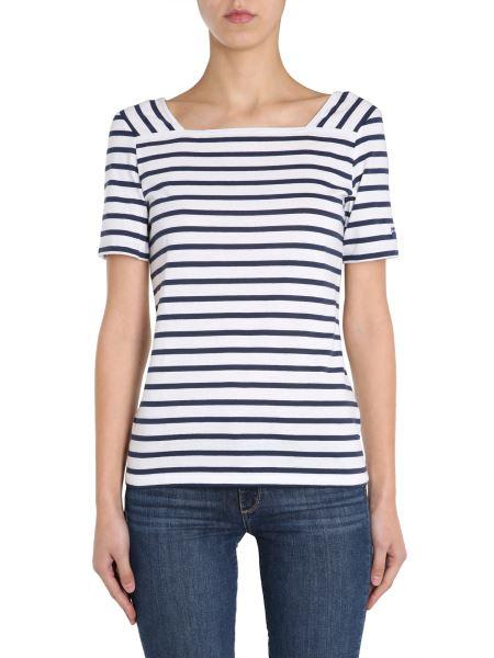 "Saint James - ""pleneuf"" Cotton T-shirt With Striped Pattern"
