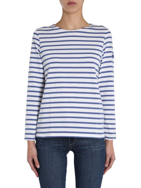"Saint James - ""minquidame"" Cotton T-shirt With Striped Pattern"