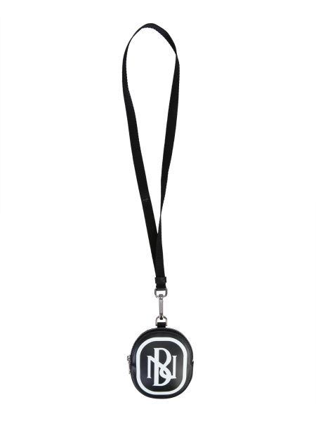Neil Barrett - Portafoglio Con Logo In Pelle