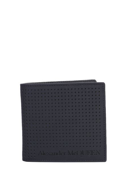 Alexander Mcqueen - Bifold Leather Wallet With Logo