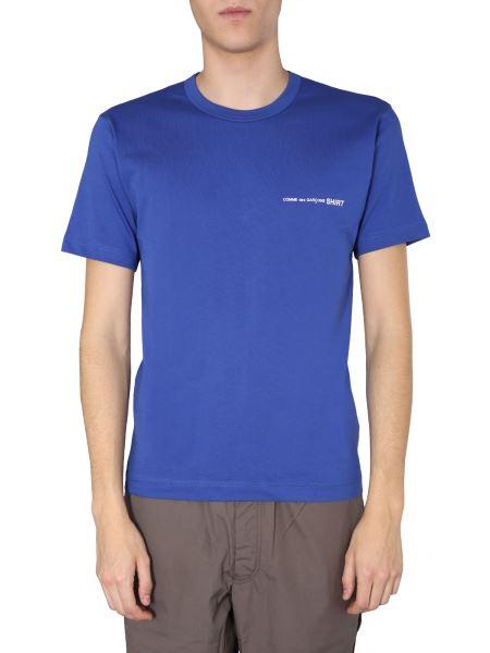 Comme Des Garcons Shirt - T-shirt Girocollo In Cotone Con Logo