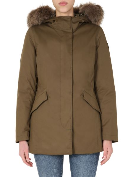 "Woolrich - ""arctic"" Down Jacket With Fur Edged Hood"