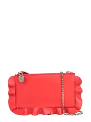 "RED (V) - POUCH ""ROCK RUFFLES"""