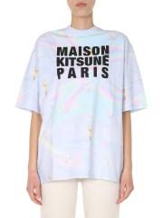 MAISON KITSUNÉ - T-SHIRT GIROCOLLO