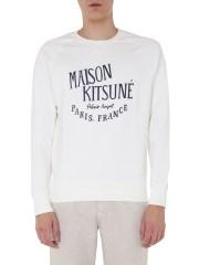 MAISON KITSUNÉ - FELPA GIROCOLLO