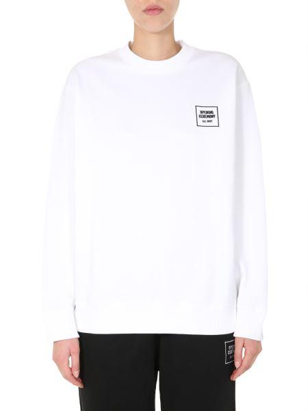 Opening Ceremony - Oversize Fit Cotton Sweatshirt With Logo Box