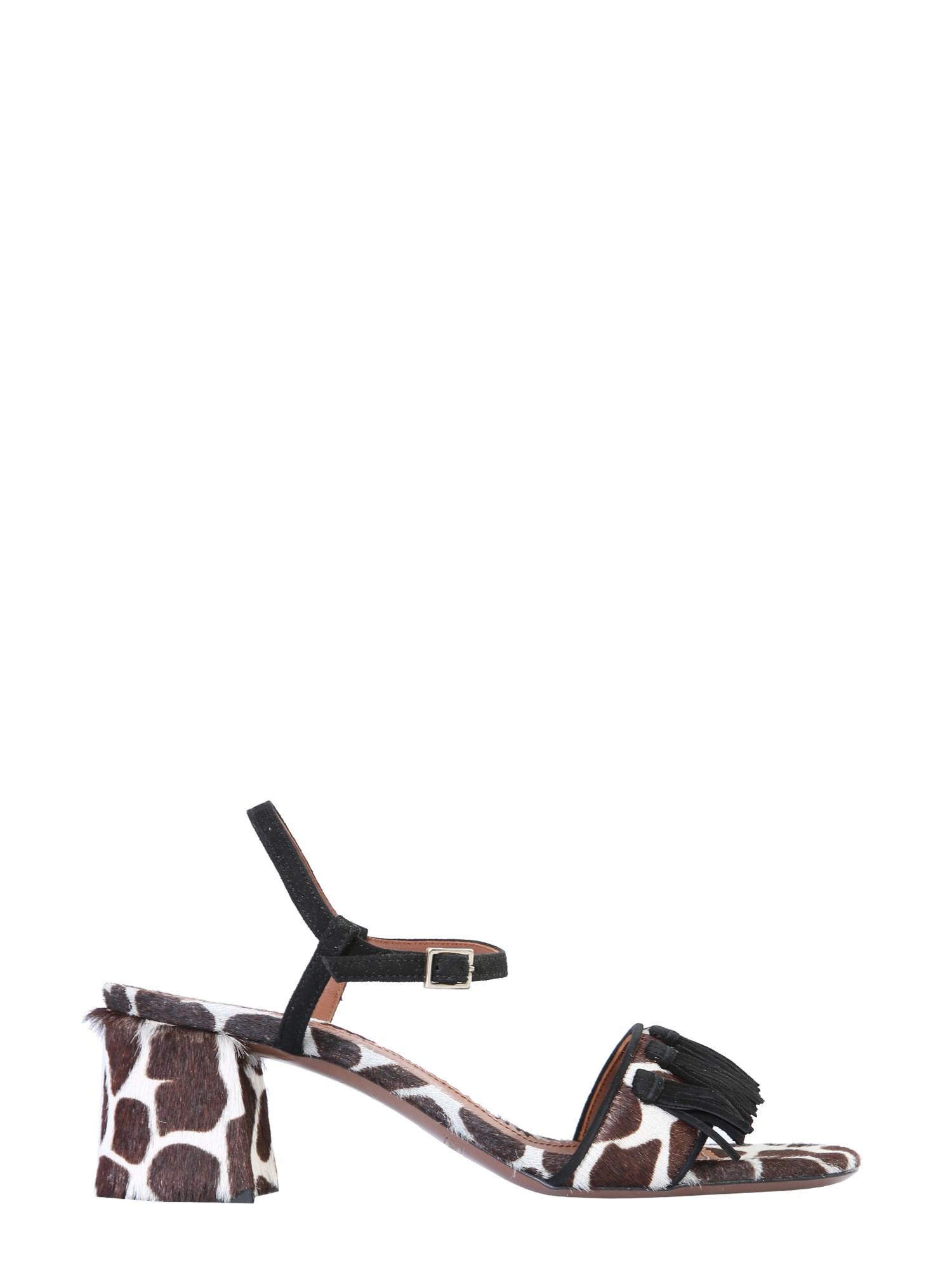 L'autre Chose Sandals With Animal Print
