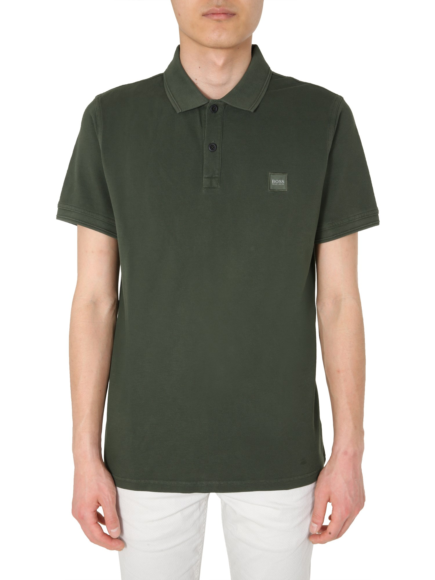 "Hugo Boss ""prime"" Polo In Verde"