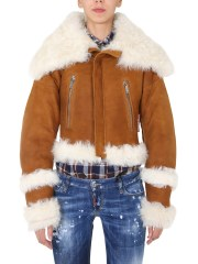 DSQUARED - BOMBER IN PELLE